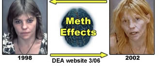 What are the harmful side effects of using meth?